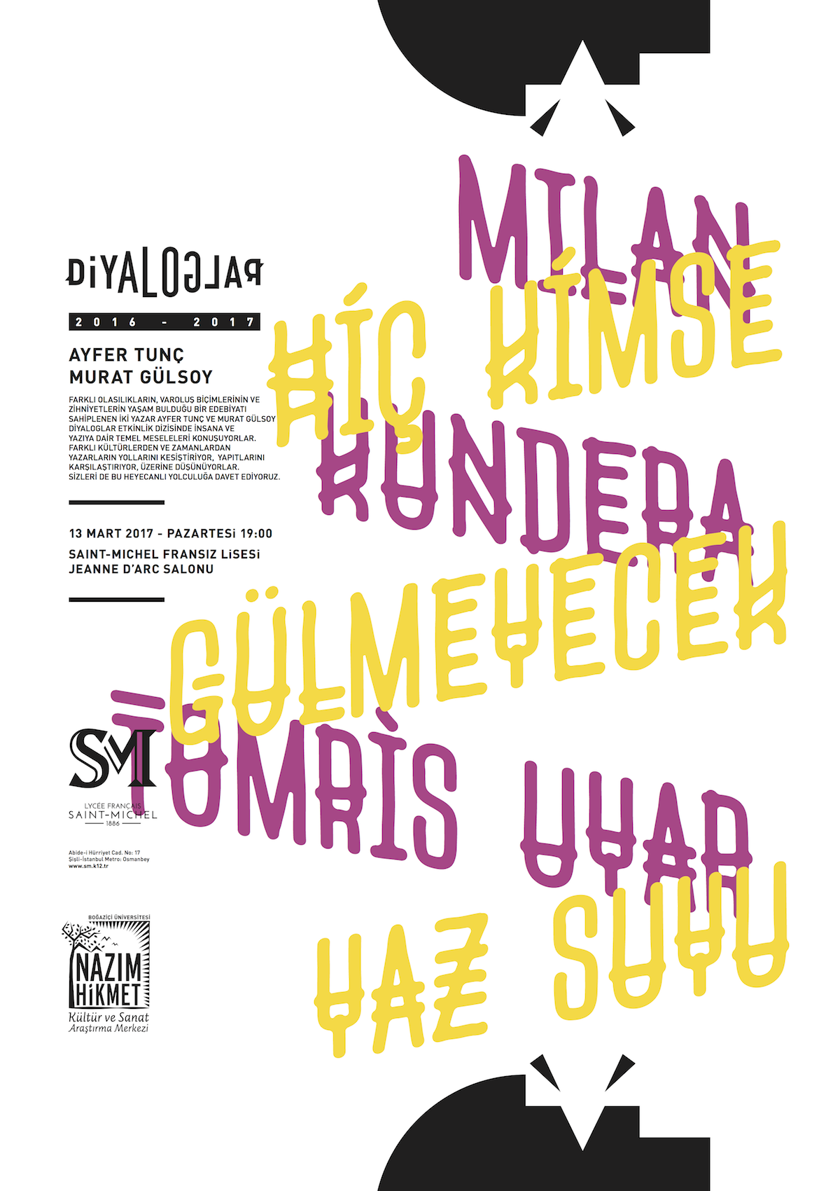 Diyaloglar 13 mart'ta: Tomris Uyar ve Milan Kundera