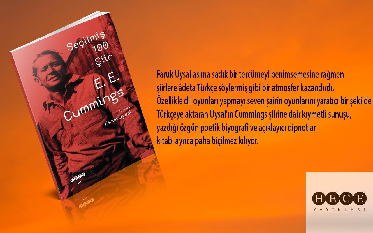 E. E. CUMMINGS'TEN SEÇİLMİŞ 100 ŞİİR HECE YAYINLARINDAN ÇIKTI