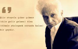 """Derrida'nın """"Şiir Nedir?"""" isimli kitabı üzerine Ahmet Sarı ile söyleşi"""